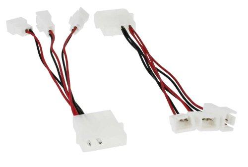 Lüfter Adapterkabel, InLine, 12V auf 5V, für 3 Lüfter