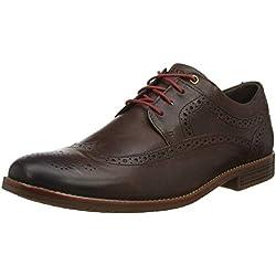 Rockport Style Purpose 3 Wingtip Brogues, Zapatos de Cordones Hombre, Marrón, 44 EU