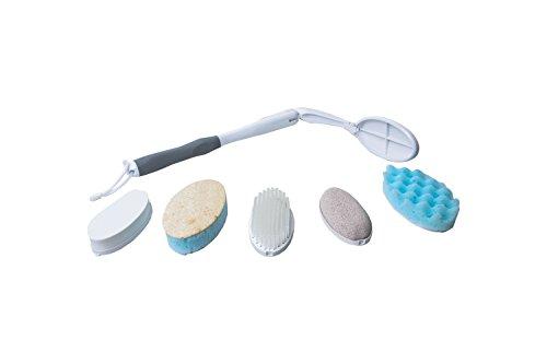 Körperpflege-SET mit extra langem Griff und 5 Aufsätzen - Eincremehilfe Rücken-Eincreamer