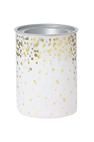 Yankee Candle 1521374 Holiday Party MW Oil Burner, Glass, Gold, 10 x 10 x 15 cm White