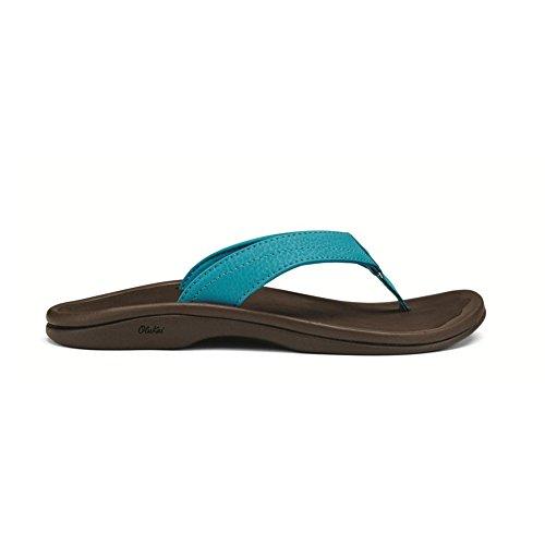 Olukai Ohana Womens Multicolore - bleu/marron (Bleu Tropiques / marron Java foncé)