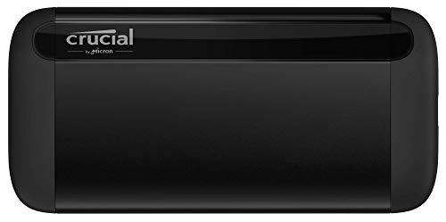 Crucial CT1000X8SSD9 1TB X8 Portable SSD - Bis zu 1050MB/s - USB 3.2 - USB-C, USB-A