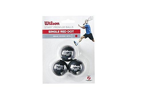 Preisvergleich Produktbild Wilson Squash-Ball,  Staff,  3 Stück,  Rot,  Schwarz,  WRT618200