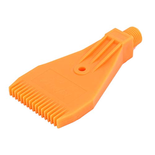 ZCHXD 1/4BSP Male Thread ABS Single Hole Air Blow Off Flat Jet Nozzle Orange -