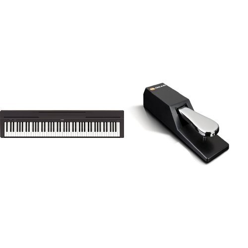 Yamaha P-45B Digital Piano schwarz + M-Audio SP-2 | Universal Sustain Pedal / Dämpferpedal Bundle (Yamaha Keyboard Sustain Pedal)