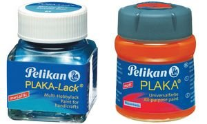 Pelikan 101675 - Bastelfarbe Plaka, Glas Ton 30, 50 ml, blau
