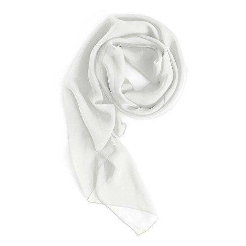 Homrain Damen Chiffon Stola Schal für Hochzeitskleider Abendkleider Alltagskleidung White L