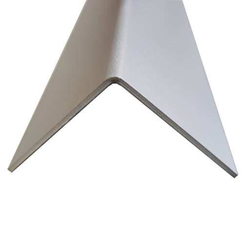 1x Alu Winkel Profil Aluminium eloxiert Schenkel 40x40mm Länge 2500mm 2,0mm Winkelprofil Kantenschutz L-Profil Eckschiene Eckenschutz Metallwinkel Leistenprofil Profile