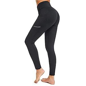 Battnot❤ Damen Sport Leggings mit Tasche High Waist Yoga Hosen, Frauen Sport Hosen Lange Solide Strecken Fitness Workout…