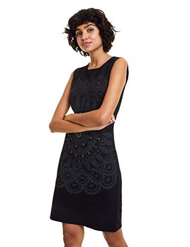 Desigual Dress Igritte Robe, Noir (Negro 2000), Medium Femme