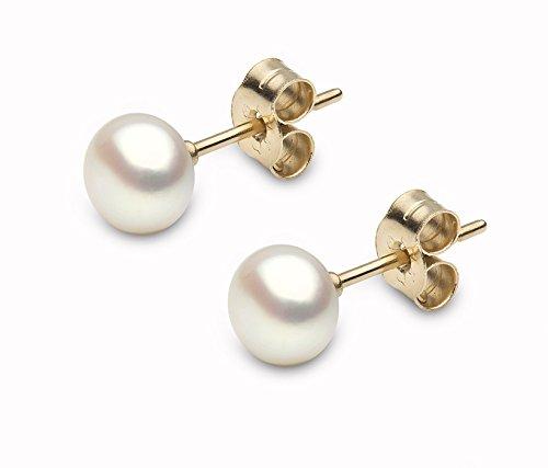 Kimura Perles Kimura Pearls - E11955 - 25 - Pendientes de mujer de oro amarillo (9k) con perla de agua dulce