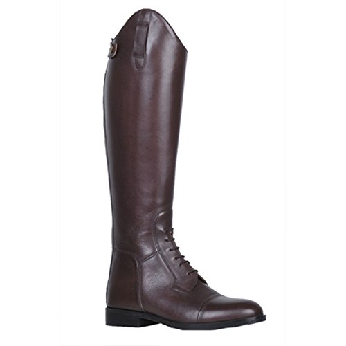 HKM, stivali da equitazione Spain in pelle morbida corti, ampi, da uomo marrone