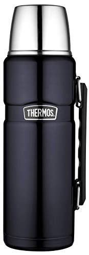 THERMOS Stainles King Thermosflasche Isolierflasche, Edelstahl, Midnight Blue, 1,2 Liter (Bike Rack Stock)