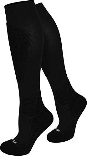normani Kompressionsstrumpf Ski-kniestrümpfe mit Spezialpolsterung Farbe Schwarz Größe 39/42