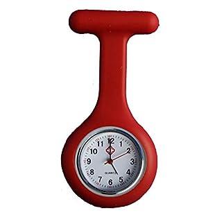All u need Krankenschwester Schwesternuhr Rot Taschenuhr Kitteluhr Pulsuhr Pflege Nurse Watch
