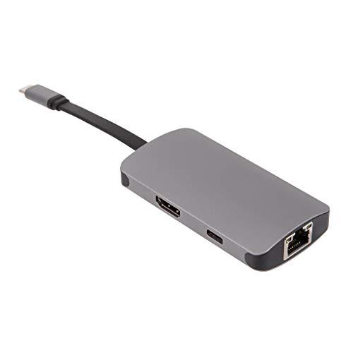 MinusK 5 In 1 USB Typ C Hub Hdmi 4K USB C Hub Auf Gigabit Ethernet Rj45 LAN Adapter für USB-C Ladegert Anschluss -
