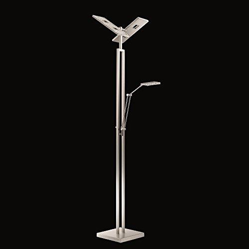 NE - LED Deckenfluter, 3-flg.- LED / EEK: A-A++ (Stehlampe W Leselicht)