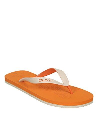 Duke Men's Orange & White Coloured Pvc Slippers 10  available at amazon for Rs.250