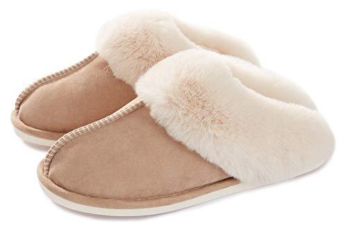 Pantofole scamosciate da donna interne casa morbida autunno inverno memoria schiuma pavimento indoor outdoor