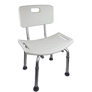 Mobiclinic, Olivo, Silla o taburete de baño, de ducha, ortopédica, altura regulable, respaldo, conteras antideslizantes