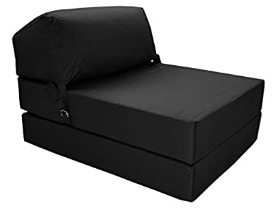 JAZZ CHAIRBED - BLACK Deluxe Single Chair Bed produced by Gilda Ltd - quick delivery from UK.