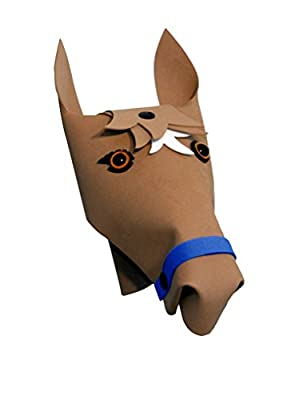 Kiddimoto Handlebar Heroes HBH01FD Lenkeraufsatz Pony braun für Kinder Fahrräder Scooter Lauflernräder, One Size