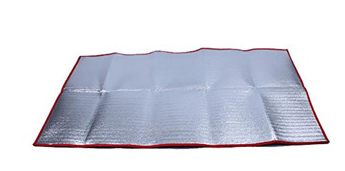Outdoor tapis humidité pad d'épaississement de pique-nique, des tentes, des nattes, en aluminium double face ( taille : 200*190*0.4cm )