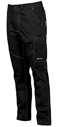 Pantaloni da Lavoro Uomo Cotone Multistagione con Tasche Laterali Payper Worker, Colore: Nero, Taglia: S