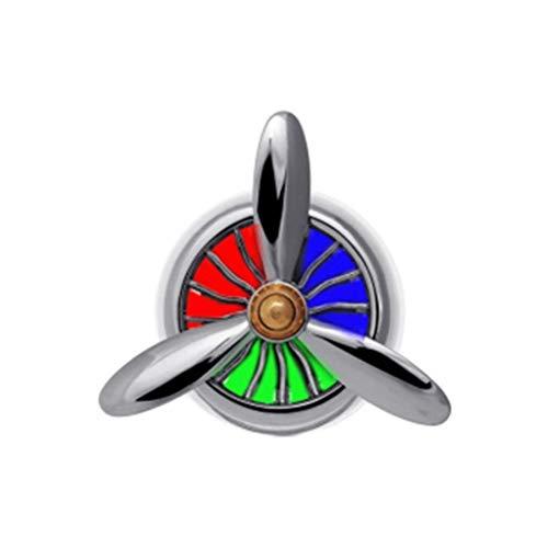 WYQSZ Ventola è Adatta per Auto Car Car Rotating No. 3 Auto Aria condizionata Uscita d'Aria Decorazione Ornamenti Auto Piccolo Ventilatore Auto Vent - Ventilatore a Torre 6505 (Color : Silver)