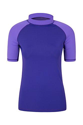 Mountain Warehouse Camiseta térmica de Manga Corta con protección Solar UV para Mujer - Camiseta térmica con protección Solar UPF50+ para Mujer, Secado rápido Morado Claro 44