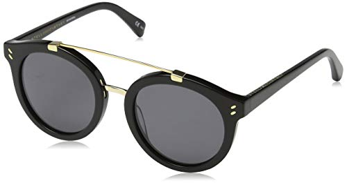 Stella mccartney sc0054s 002 occhiali da sole, nero (002-black/grey), 50 unisex-adulto