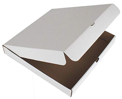 10 x PIZZA BOXES ☆ TAKEAWAY FAST FOOD CAKE PACKAGING WHITE ☆ SIZE : 12 INCH