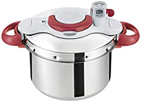 Tefal Clipsominut Perfect 9L Pressure Cooker - P4624931, Stainless Steel, Multi Color