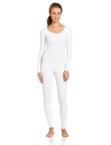 Capezio Women's Long Sleeve Unitard,White,Small