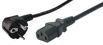 EAXUS Kaltgerätekabel 1,8m schwarz (Netzkabel/Stromkabel für PC's, Drucker, Bildschirme usw.)
