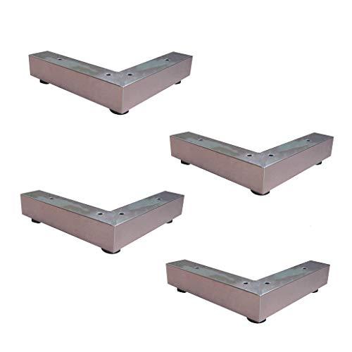 Furniture legs Möbelfüße * 4 Edelstahl-Schrankfüße, Stützfüße für Couchtische, TV-Tischbeine L-förmige Lager sind stark und verschleißfest - L-förmige Couchtische