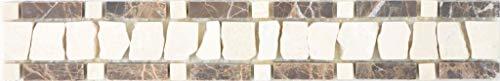 Marmor Bordüre Bordüre emperador dark cremarfil Wand Boden Küche Dusche Bad Fliesenspiegel| BOR-EC11_f | 10 Bordüren -