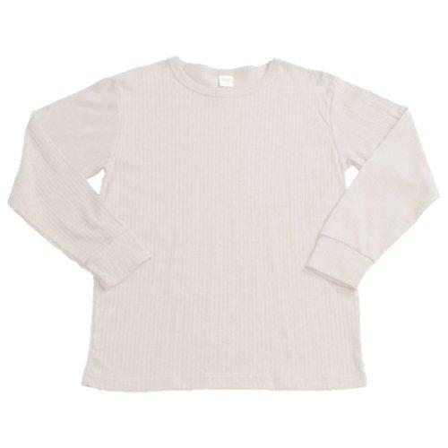 Kinder Thermo Unterhemd Langarm flauschig angerauht 3 Farben u. 4 Größen AY32187 Creme