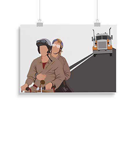 Dumb and Dumber inspirierte Poster - Zitat - Alternative Movie/Film Prints in verschiedenen Größen (Rahmen nicht im Lieferumfang enthalten)