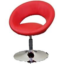 Heinz Hofman sillón giratorio ajustable en altura, disponible en 5 colores - 71-83x65x57, Revestimiento suave 100% poliuretano, Rojo