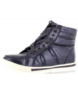 Chaussure Bas Prix - Baskets montantes, imitation cuir vernis - 998-47-12 Violet
