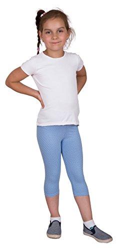 Ragazze Cotone Corto o pantaloncini da ciclismo LEGGINGS misure 3anni-12anni ampia gamma di colori Cropped Blue Polka Dots 9-10 Anni