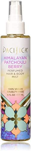 Pacifica Beauty Perfumed Hair & Body Mist, Himalayan Patchouli Berry, 6 Fluid O