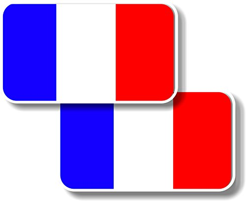 Graphic Effects vinyl sticker/Decal Small 70 mm Francia bandiere – Coppia