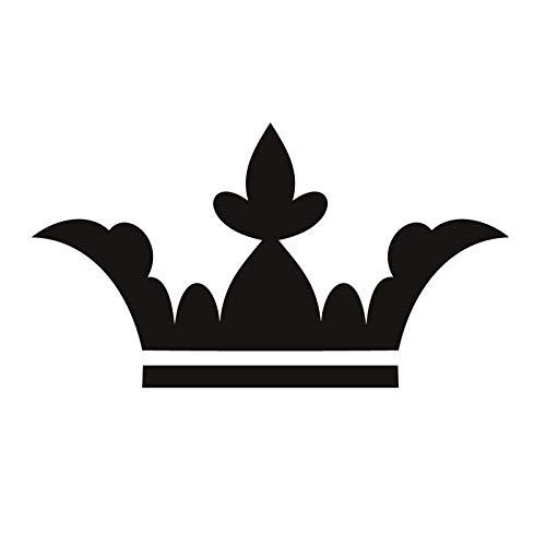 guijiumai Europa Heißer Wanddekor Zubehör Vinyl Removable Leaf Style Crown Wandaufkleber Priness Schlafzimmer Dekoration rot 59x105 cm