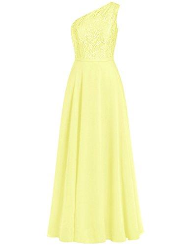HUINI Damen Modern Kleid Gelb