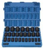 Grau Pneumatische (8029d) 3/10,2cm Antrieb 29Tief Fraktionierte Master Socket Set - Fractional Socket Set