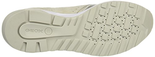 Geox D Phyteam A, Sneakers Basses Femme Gris (Ivory/Platinumc0997)