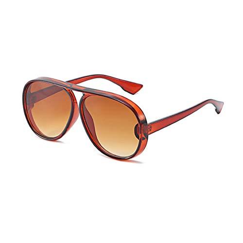 Idyandyans Toad Sonnenbrille Männer Frauen Anti-UV Sonnenbrille mit großem Rahmen Retro runde Gesicht Brillen Brillen