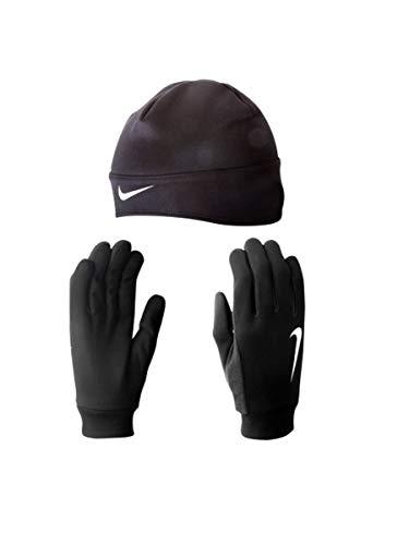 Nike Herren Dri-FIT Mütze Und Handschuh Set, Schwarz/Silber, M
